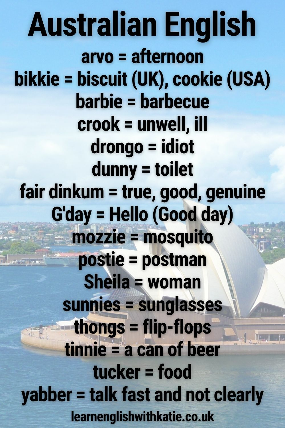 Differences Between British And Australian English Learn English With Katie